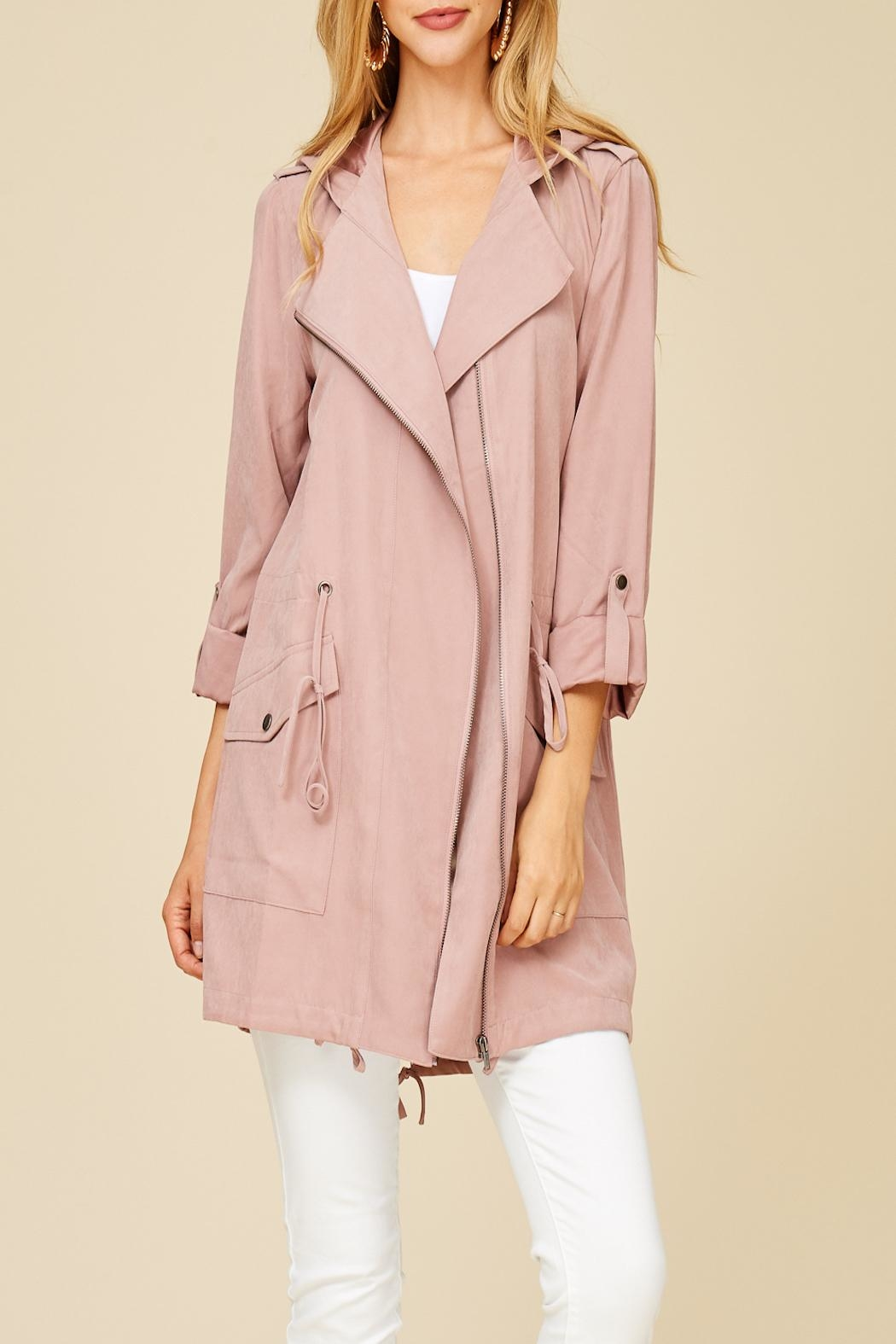 Apricot Lane St. Cloud Blushing For You Coat - Front Full Image