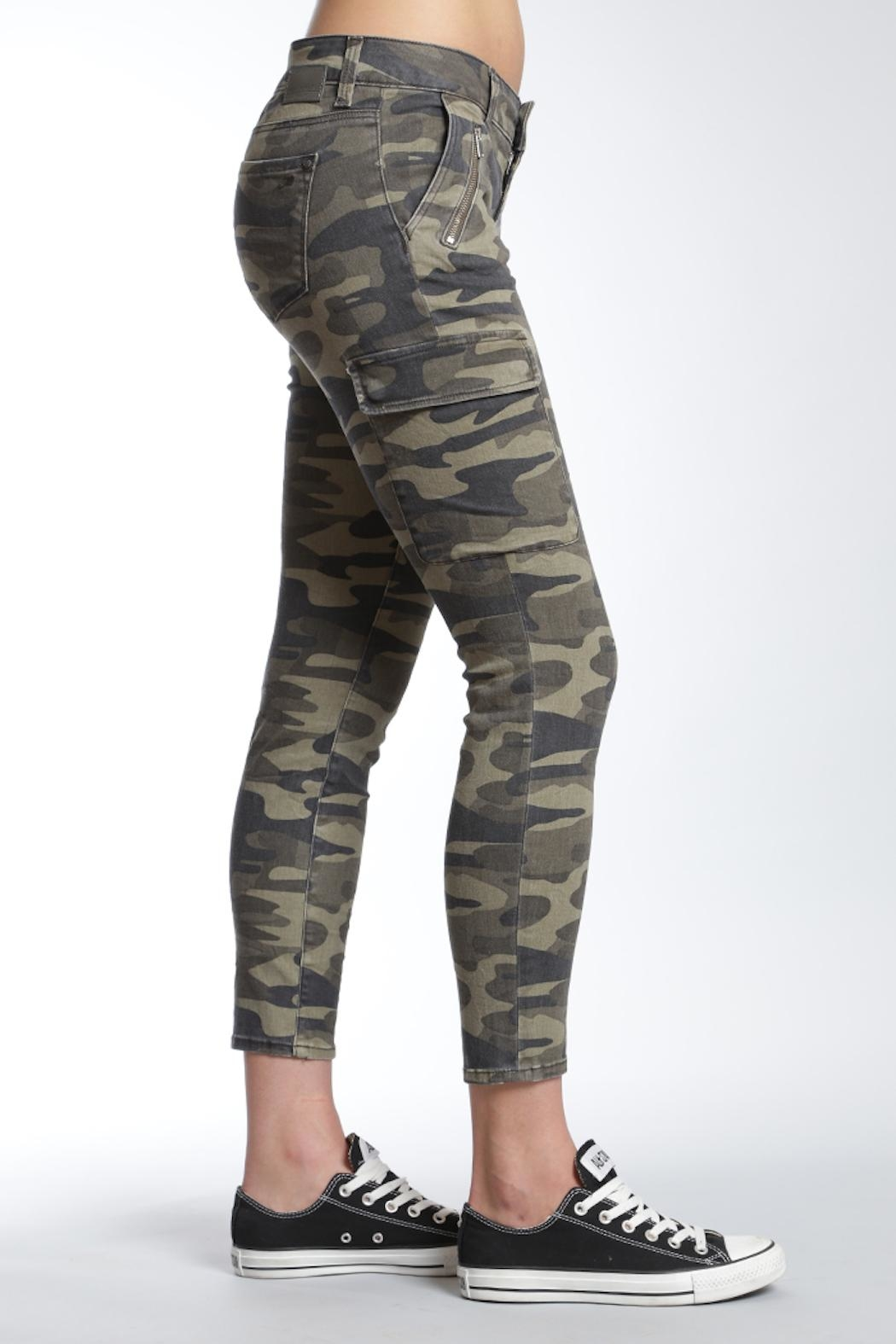 Apricot Lane St. Cloud Camo Cropped Pant - Front Full Image