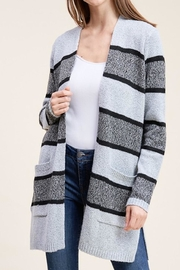 Apricot Lane St. Cloud Charcoal Stripe Cardi - Product Mini Image