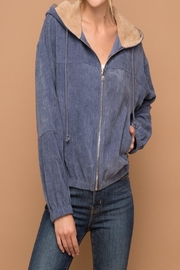 Apricot Lane St. Cloud Cord Hoodie Jacket - Front cropped