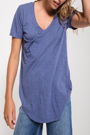 Apricot Lane St. Cloud Cotton Slub Pocket-Blue - Side cropped