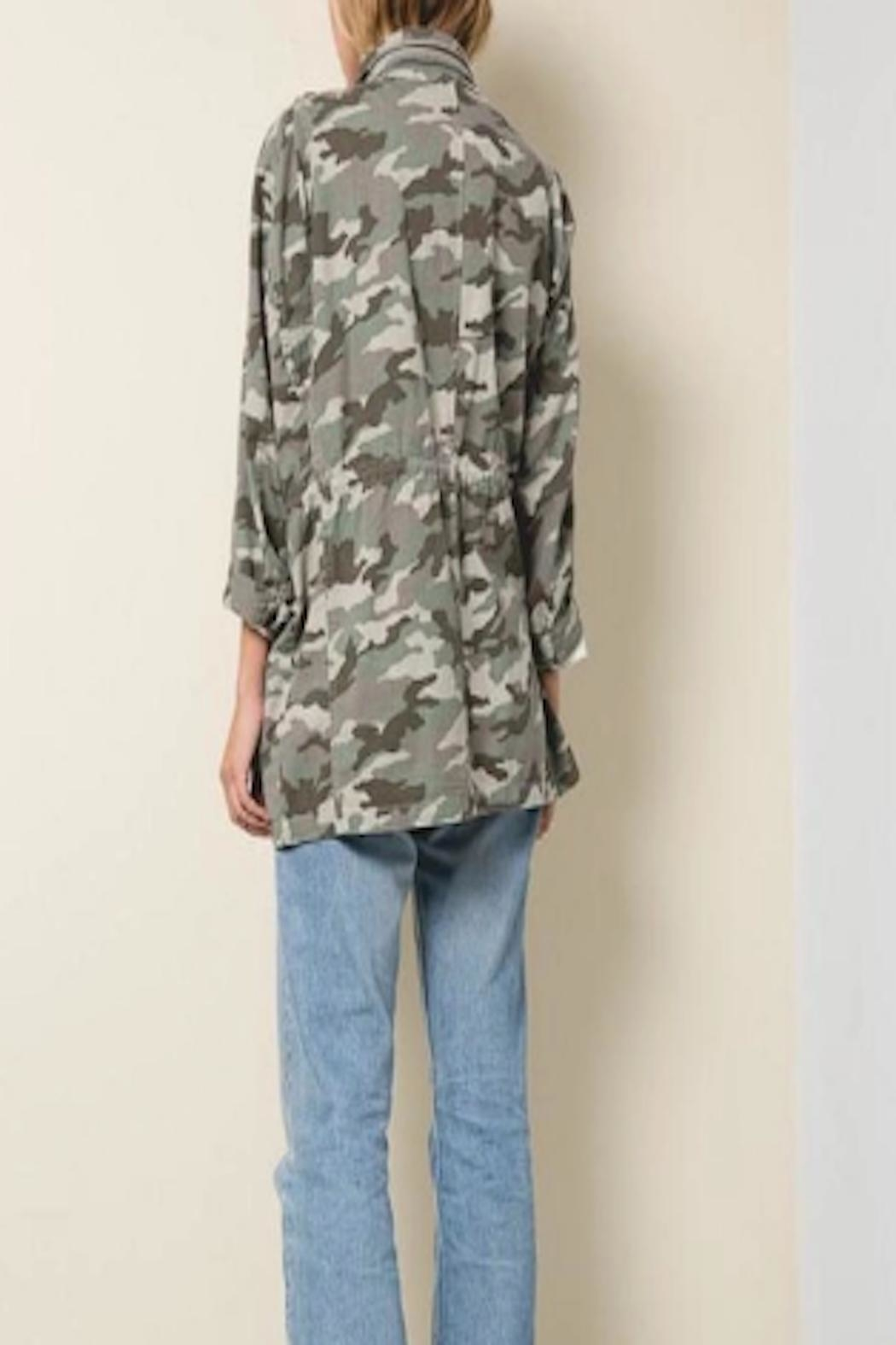 Apricot Lane St. Cloud Drawstring Camo Jacket - Front Full Image
