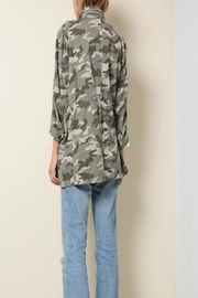Apricot Lane St. Cloud Drawstring Camo Jacket - Front full body