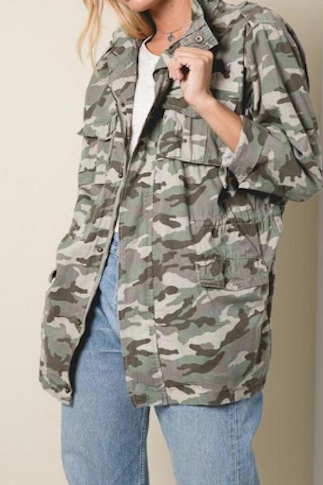 Apricot Lane St. Cloud Drawstring Camo Jacket - Main Image