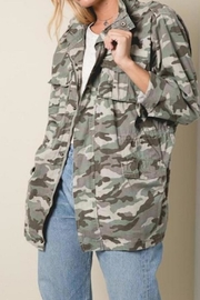 Apricot Lane St. Cloud Drawstring Camo Jacket - Front cropped