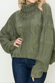 Apricot Lane St. Cloud Duddley Sweater Olive - Front cropped