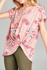 Apricot Lane St. Cloud Floral Twist Tee - Product Mini Image