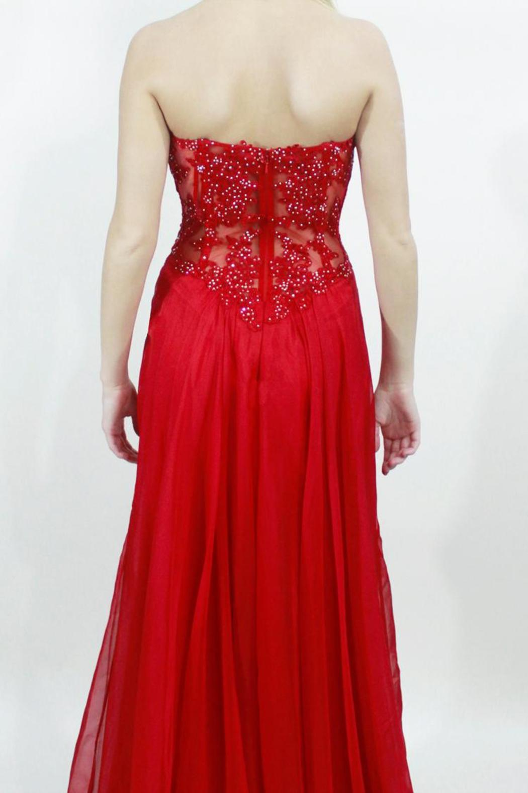 Apricot Lane St Cloud Strapless Red Dress From Minnesota