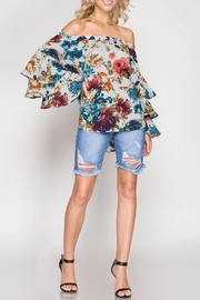 Apricot Lane St. Cloud Frills & Floral Top - Front cropped