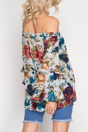 Apricot Lane St. Cloud Frills & Floral Top - Side cropped