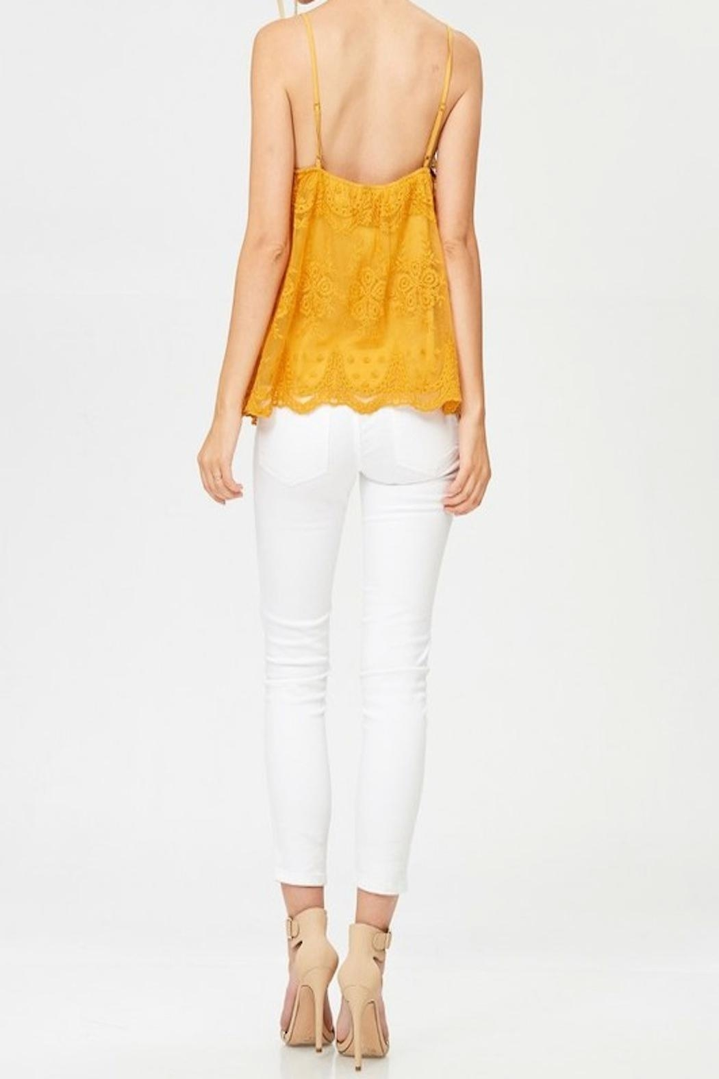 Apricot Lane St. Cloud Lace Button Up Top - Back Cropped Image