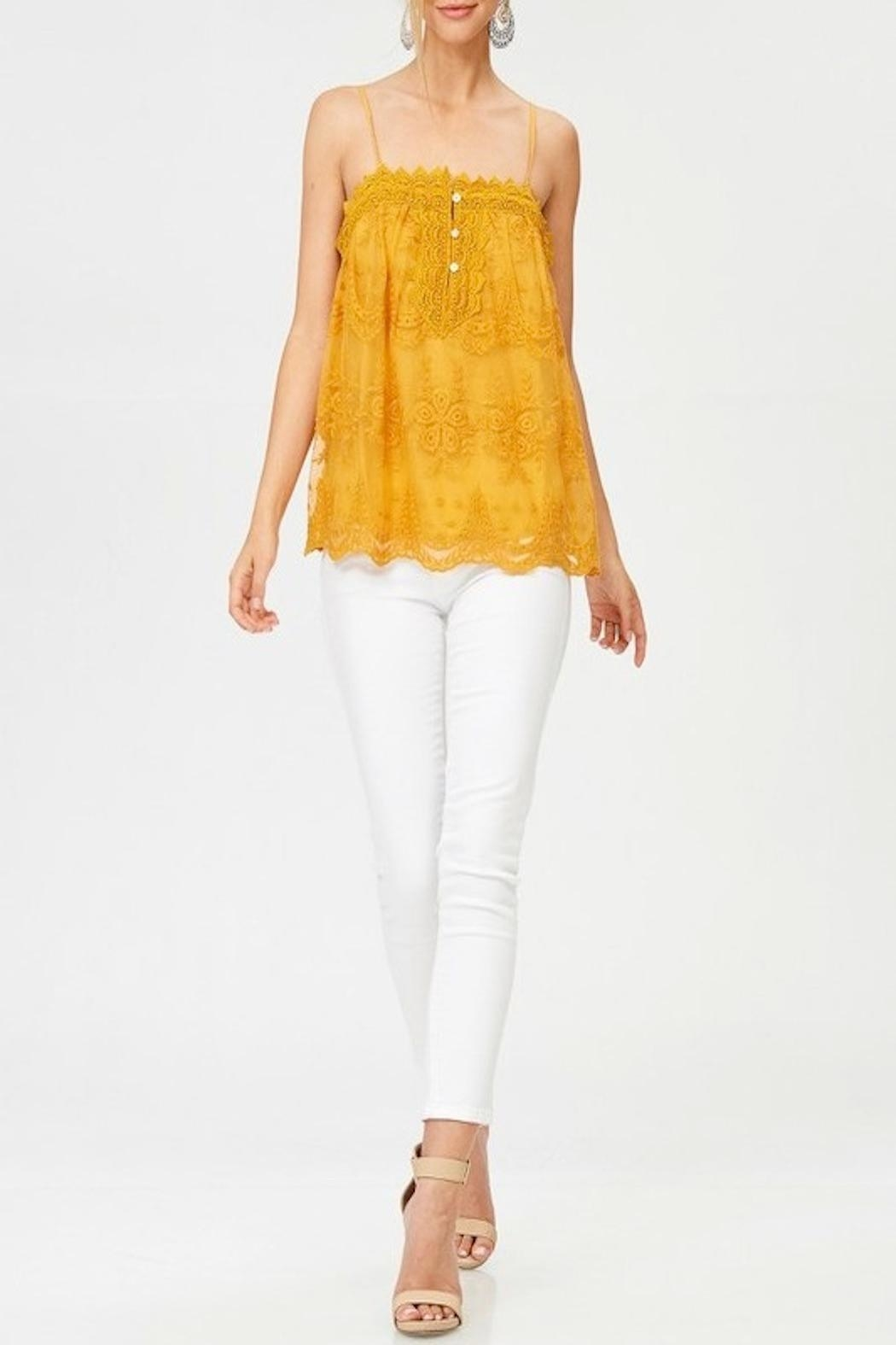 Apricot Lane St. Cloud Lace Button Up Top - Side Cropped Image