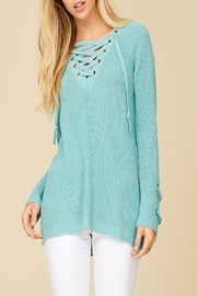 Apricot Lane St. Cloud Laced Up Sweater - Front cropped
