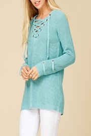 Apricot Lane St. Cloud Laced Up Sweater - Front full body