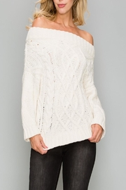 Apricot Lane St. Cloud Off Shoulder Sweater - Product Mini Image