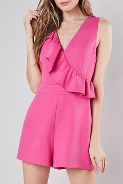 Apricot Lane St. Cloud Ruffle Down Romper-Pink - Product List Image