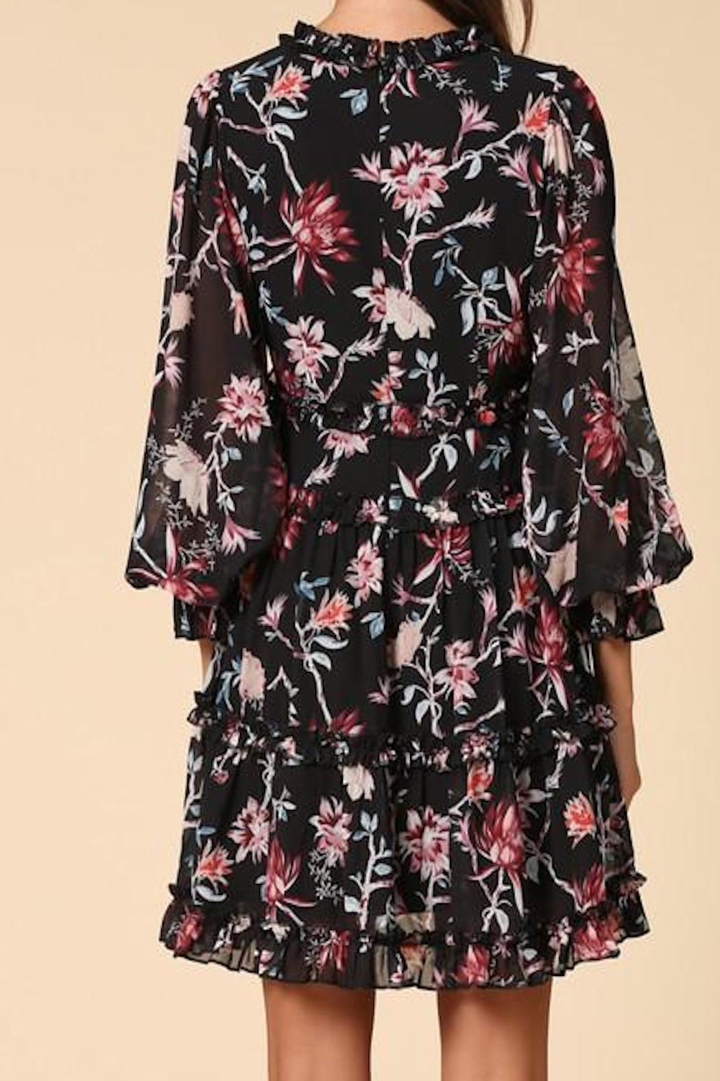 Apricot Lane St. Cloud Ruffled Floral Dress - Front Full Image