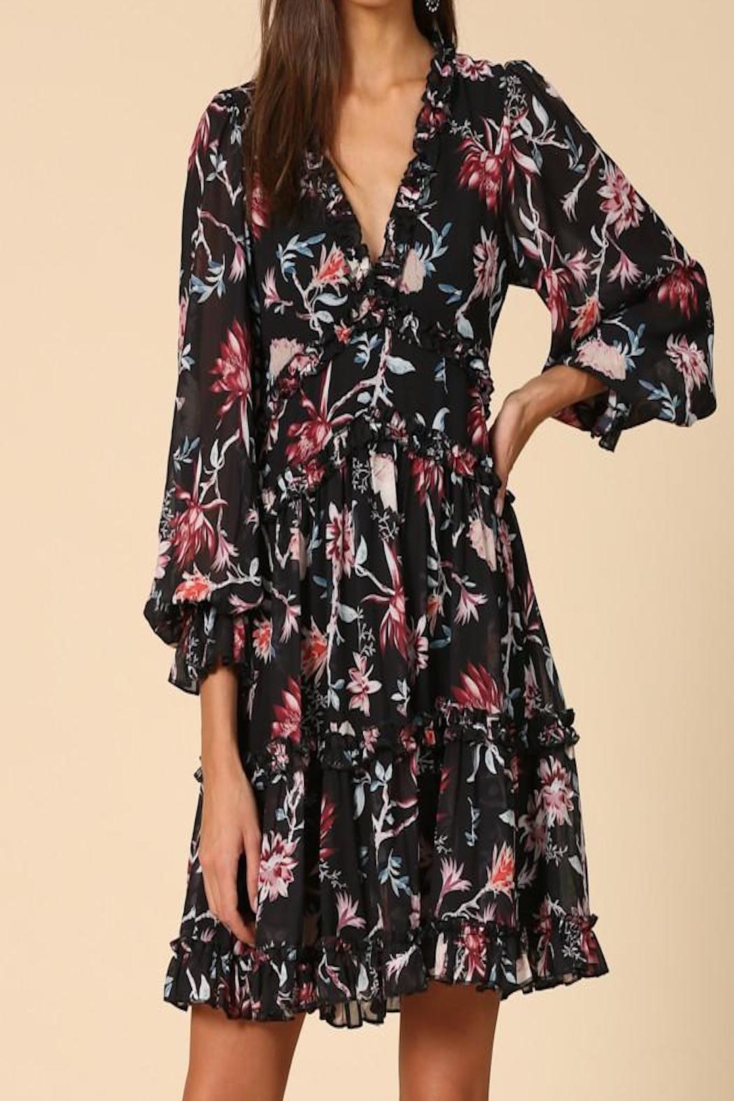 Apricot Lane St. Cloud Ruffled Floral Dress - Main Image