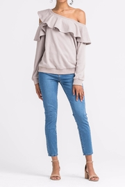 Apricot Lane St. Cloud Ruffling Love Sweater - Front cropped