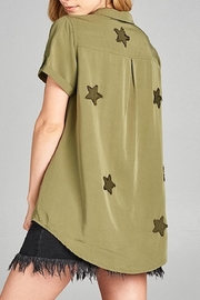 Apricot Lane St. Cloud Star Patches Top - Front full body