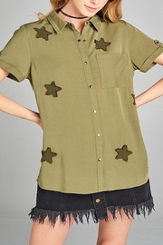 Apricot Lane St. Cloud Star Patches Top - Product Mini Image