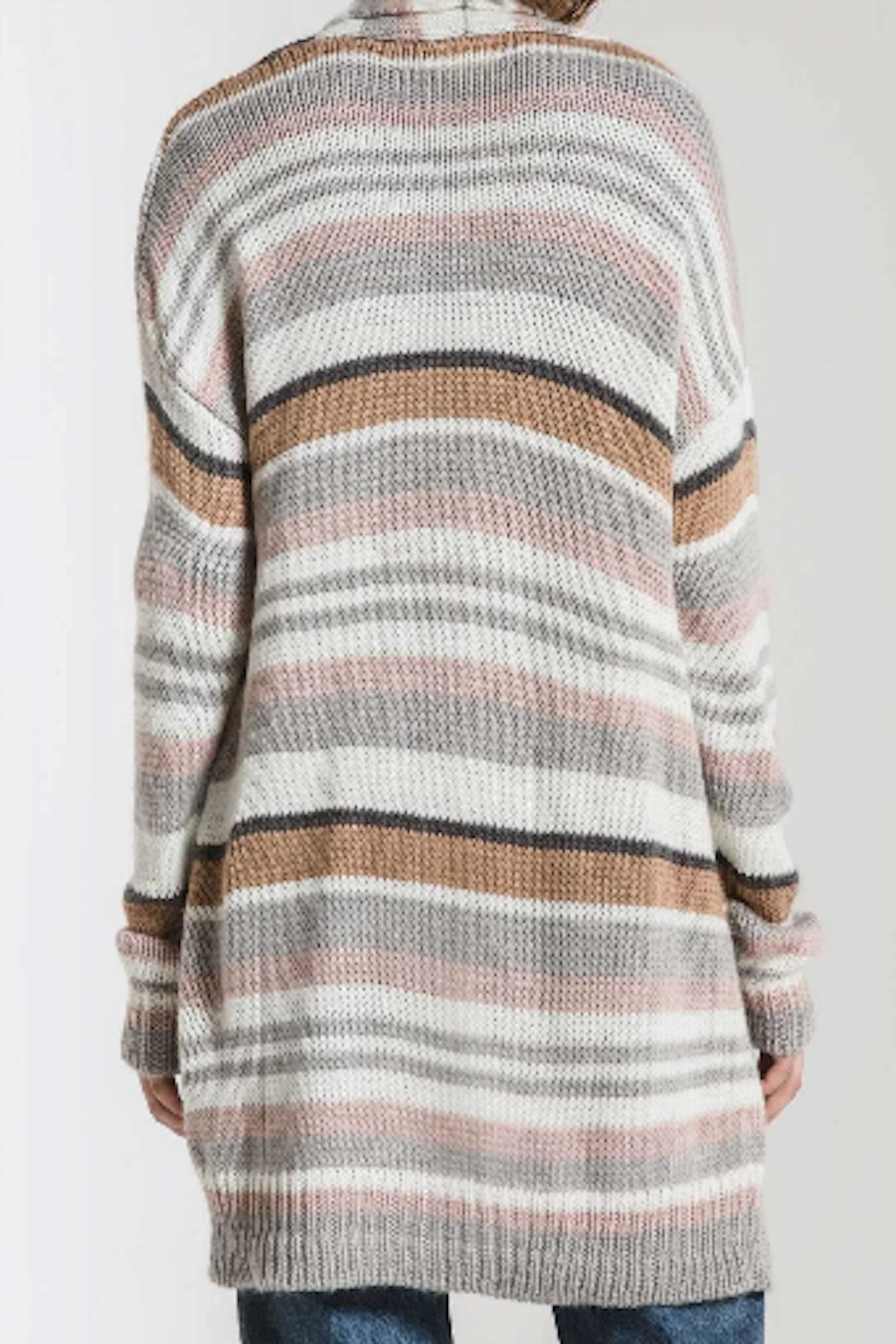 Apricot Lane St. Cloud Striped Belted Cardigan - Front Full Image