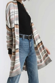 Apricot Lane St. Cloud Striped Belted Cardigan - Front cropped
