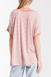 Apricot Lane St. Cloud Striped Bf-Tee-Rose - Side cropped