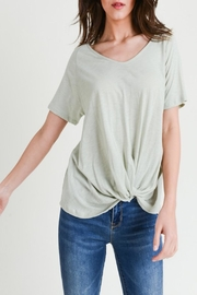Apricot Lane St. Cloud The Other-Side Tee-Sage - Front cropped