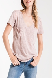 Apricot Lane St. Cloud Triblend Pocket Tee-Mauve - Product Mini Image