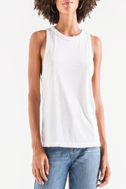 Apricot Lane St. Cloud Triblend Racer Tank-White - Product Mini Image