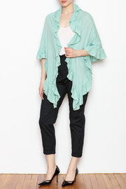 April Marin Ruffle Wrap Sweater - Front full body