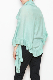 April Marin Ruffle Wrap Sweater - Back cropped