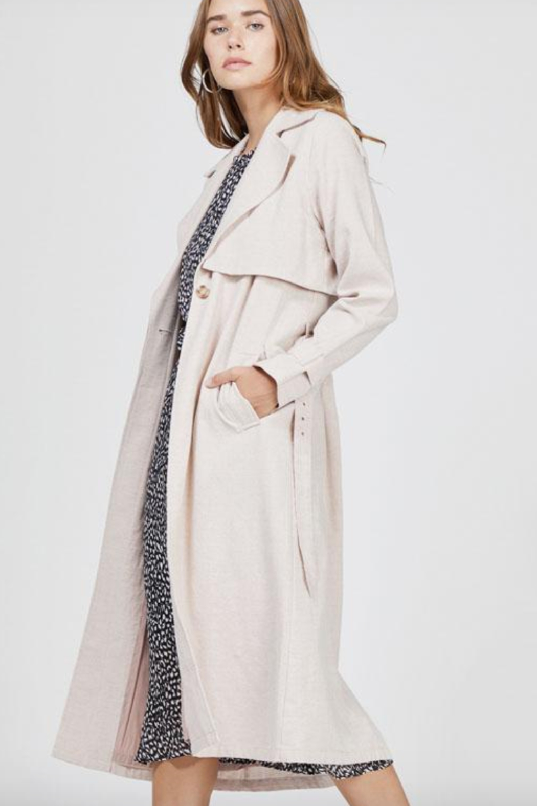 Greylin April Trench Coat - Front Full Image