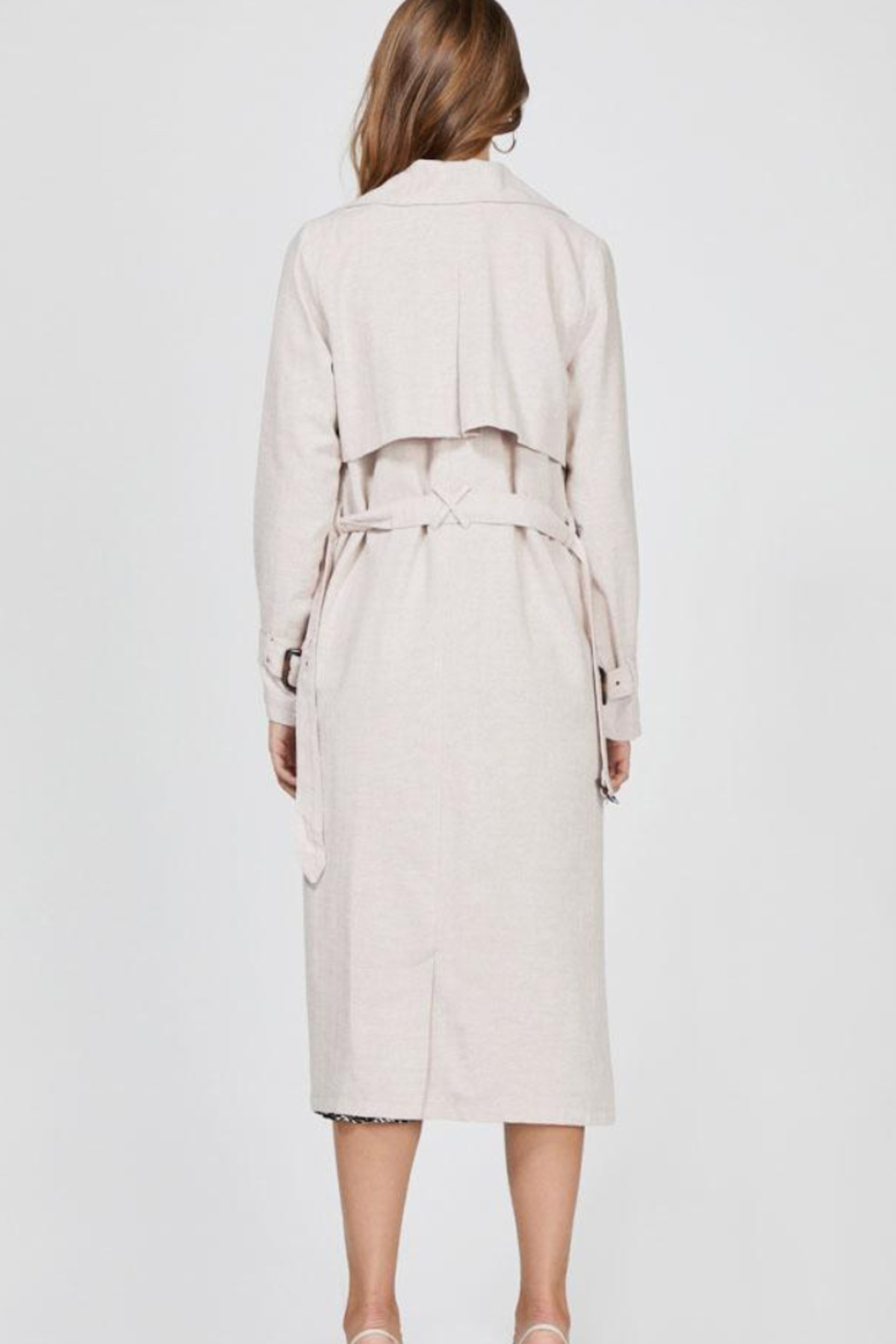 Greylin April Trench Coat - Back Cropped Image