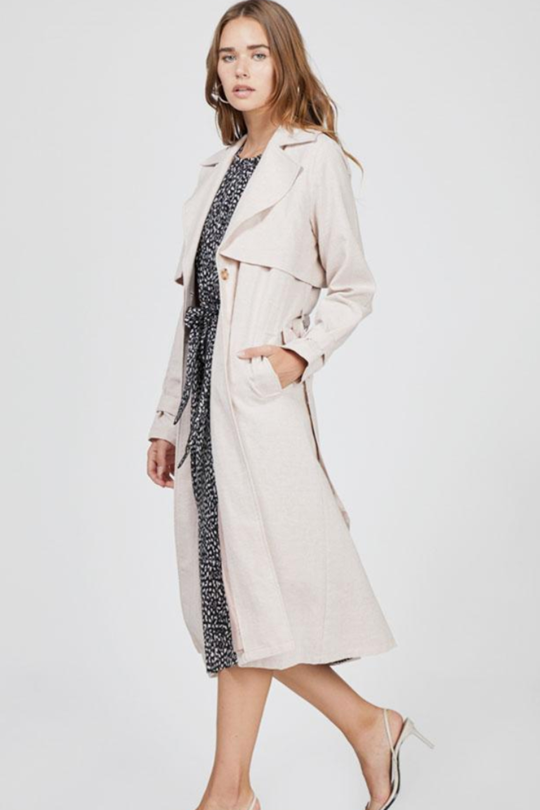 Greylin April Trench Coat - Side Cropped Image
