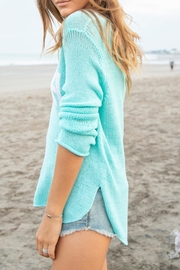 Wooden Ships Aqua Beach Sweater - Side cropped