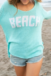 Wooden Ships Aqua Beach Sweater - Front full body