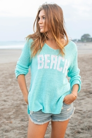 Wooden Ships Aqua Beach Sweater - Back cropped