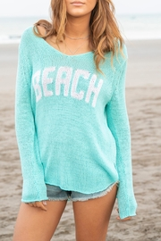 Wooden Ships Aqua Beach Sweater - Front cropped