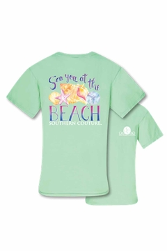 Southern Couture Aqua Beach Tee - Alternate List Image
