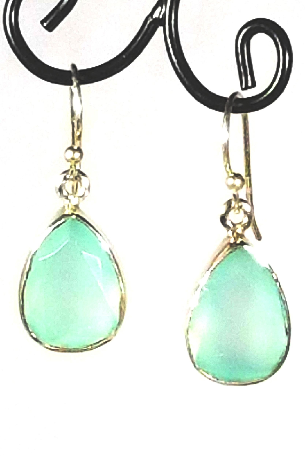 Italian Ice Aqua Chalcedony Earrings Front Cropped Image