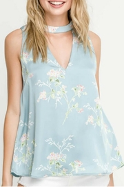Lush Aqua Floral Blouse - Product Mini Image