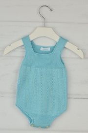 Granlei 1980 Aqua Knitted Onesie - Front cropped