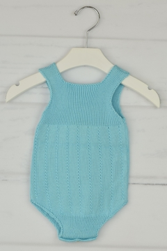 Granlei 1980 Aqua Knitted Onesie - Alternate List Image