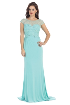 Shoptiques Product: Aqua Lace Long Dress
