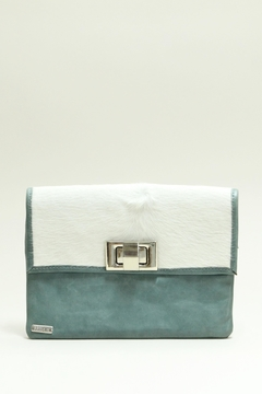 Arisch Aqua Leather Clutch - Product List Image