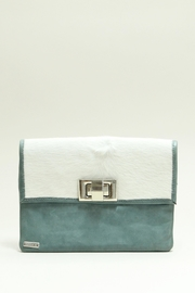 Arisch Aqua Leather Clutch - Product Mini Image