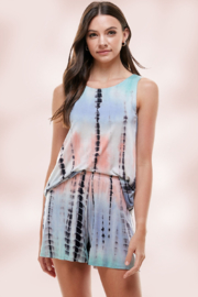 Miley and Molly Aqua/Mauve Tie Dye Loungewear Set - Front cropped