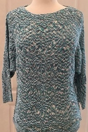 Tribal Jeans Aqua Multi Color Knit Sweater - Front cropped